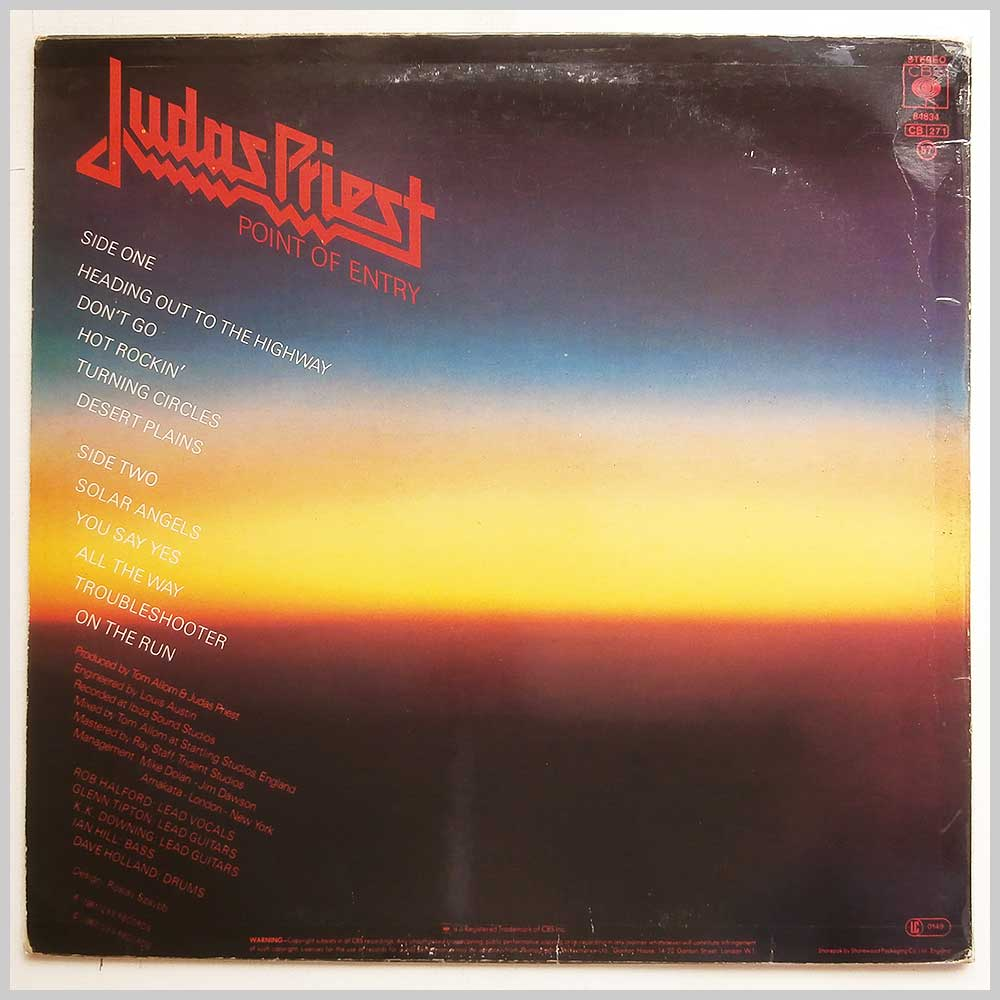 Judas Priest - Point Of Entry (CBS 84834)