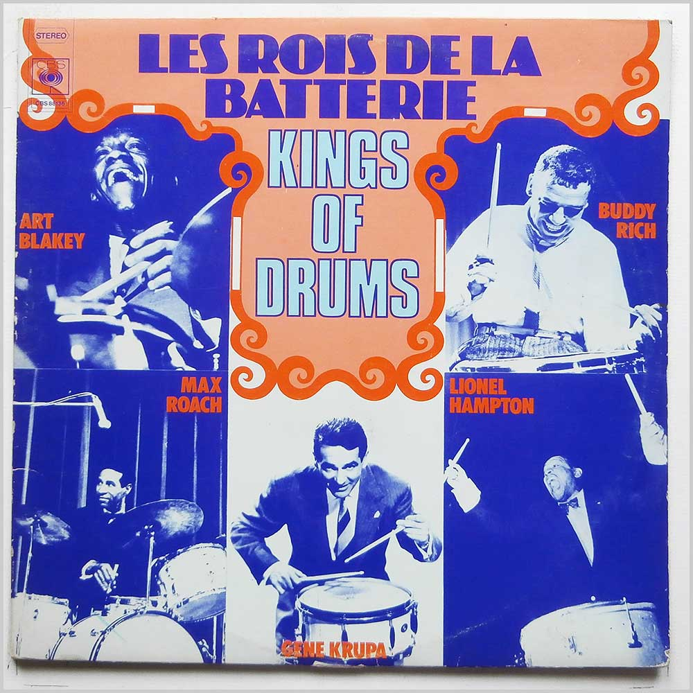 Various - Les Rois De La Batterie, Kings Of Drums (CBS 88136)