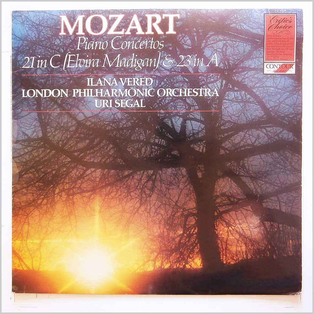 Ilana Vered, Uri Segal, London Philharmonic Orchestra - Mozart: Piano Concertos 21 in C and 23 in A (CC 7505)