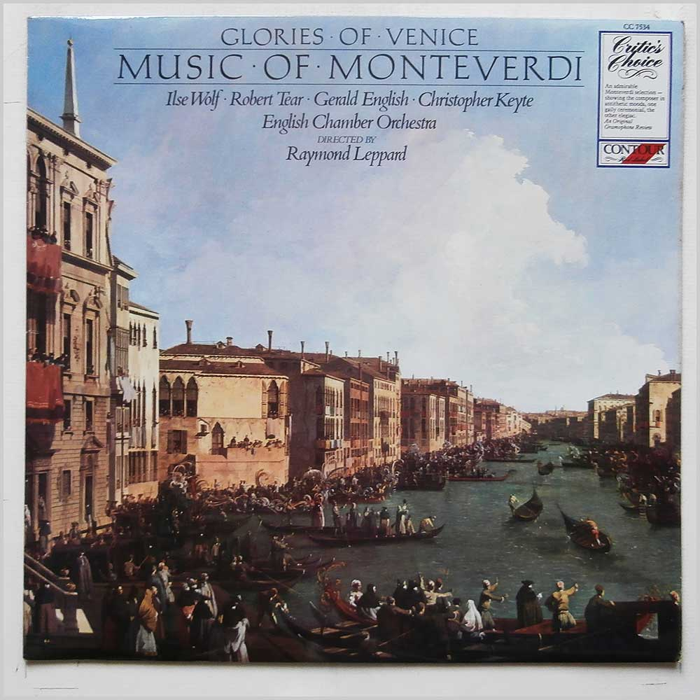 Raymond Leppard, English Chamber Orchestra - Music Of Monteverdi (CC 7534)