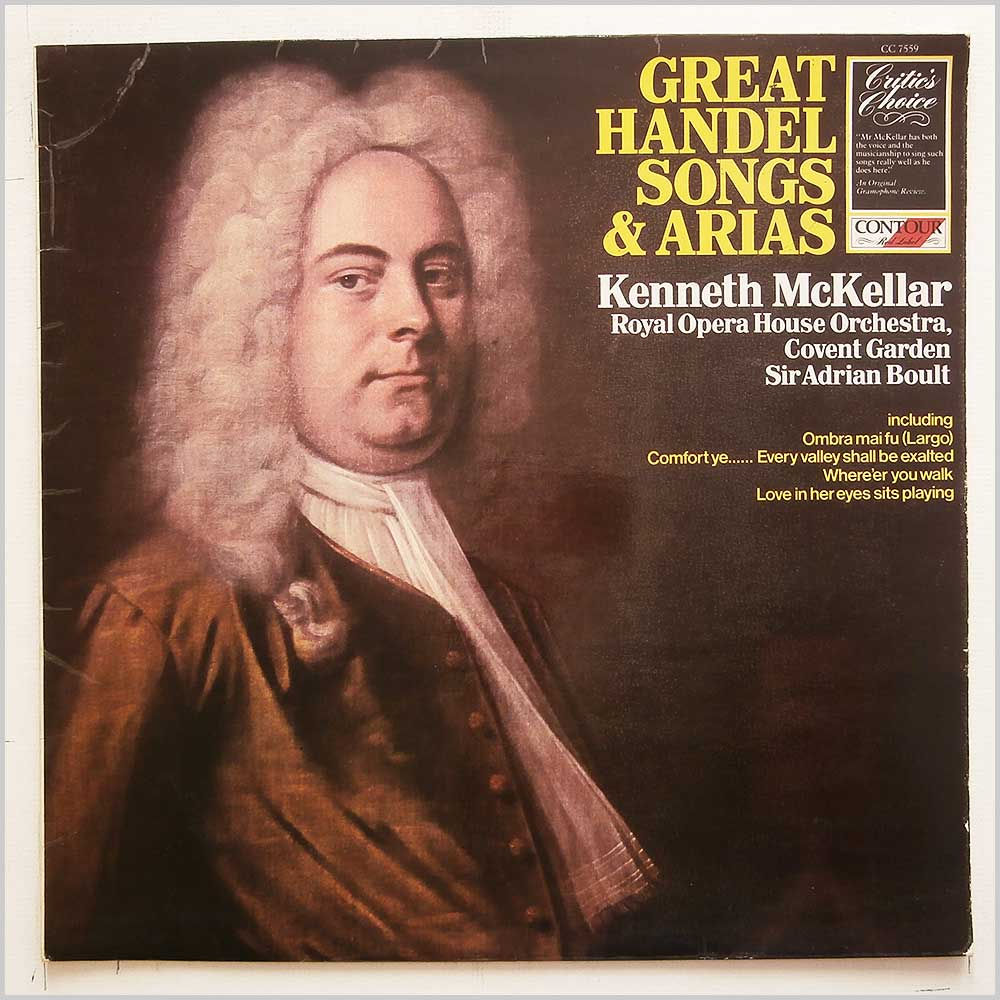 Kenneth McKellar, Sir Adrian Boult, Royal Opera House Orchestra - Great Handel Songs And Arias (CC 7559)