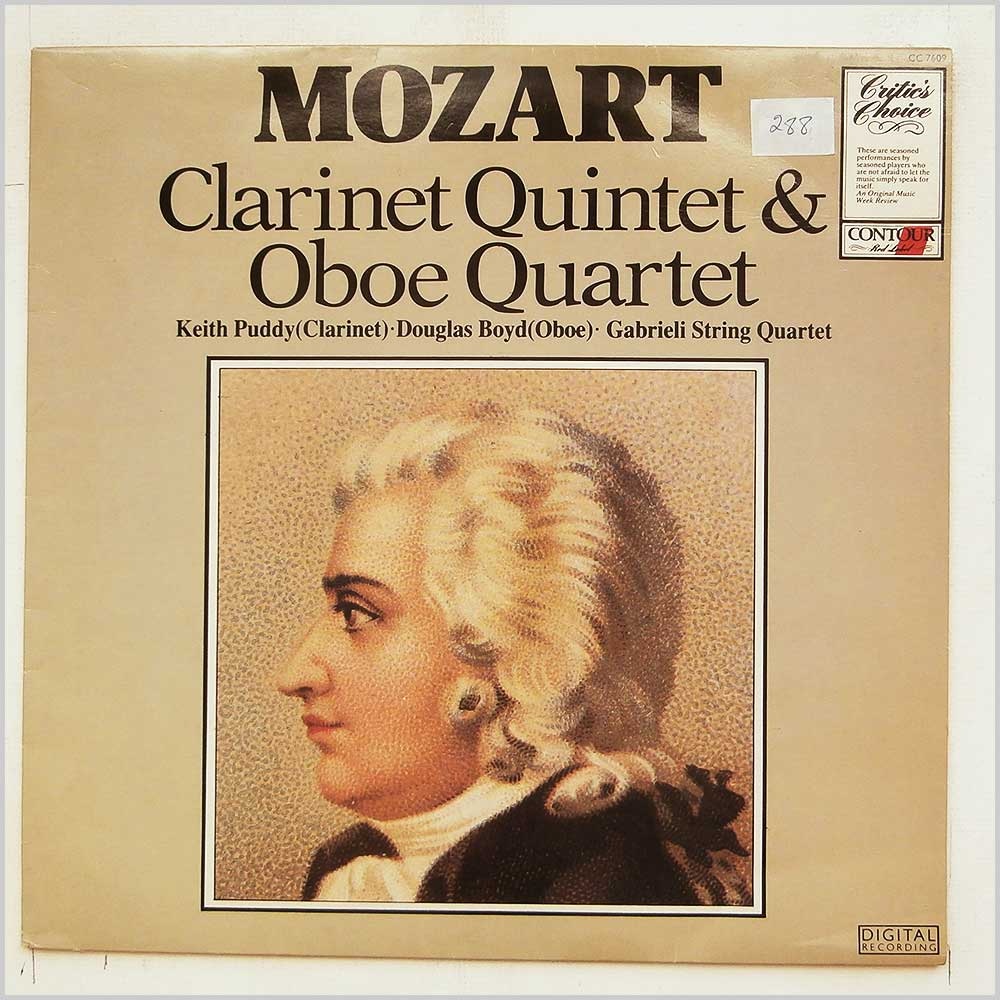 Keith Puddy, Douglas Boyd, Gabrieli String Quartet - Mozart: Clarinet Quintet and Oboe Quartet (CC 7609)