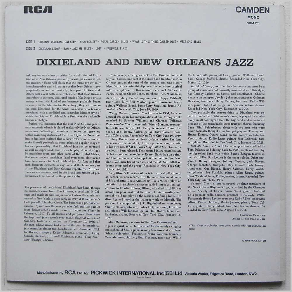 Various - Dixieland and New Orleans Jazz (CDM 1011)