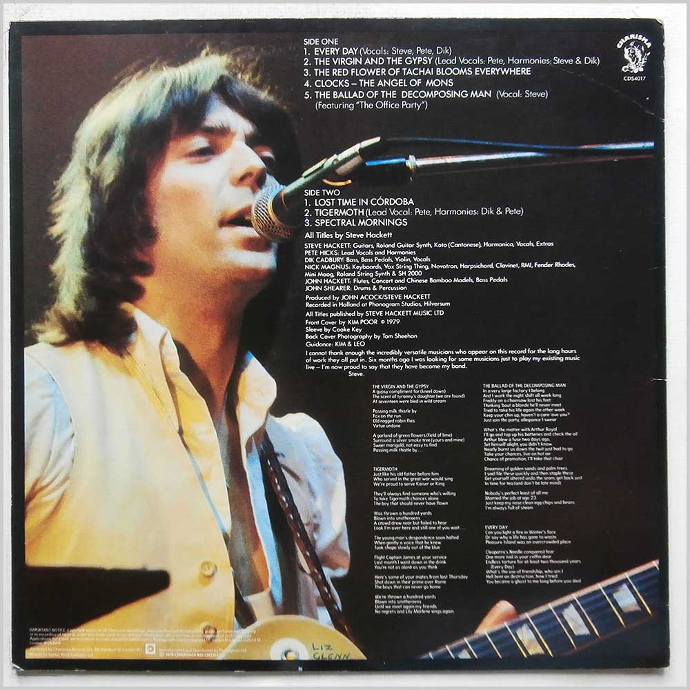Steve Hackett - Spectral Mornings (CDS 4017)