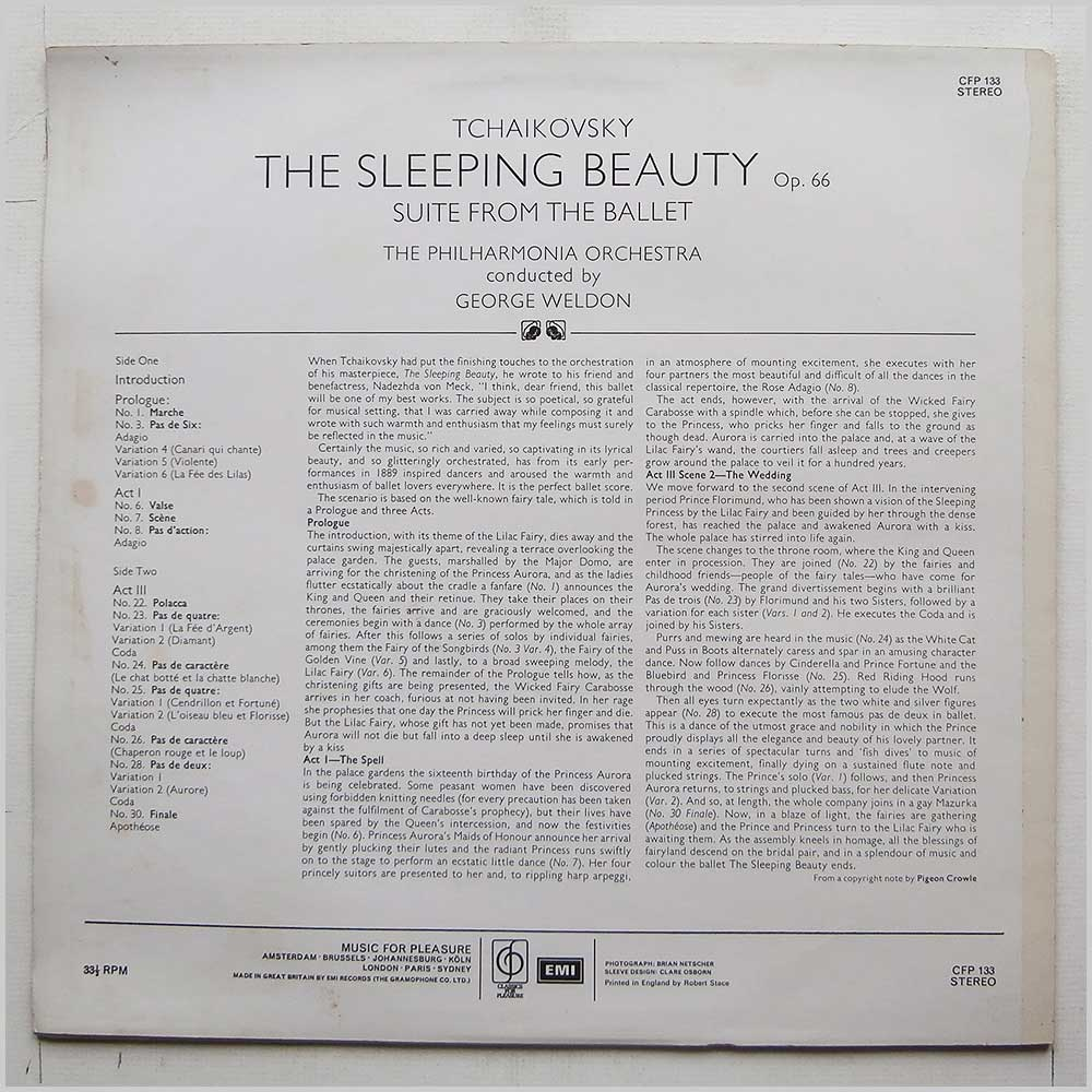 George Weldon, Philharmonia Orchestra - Tchaikovsky: The Sleeping Beauty Ballet Suite (CFP 133)