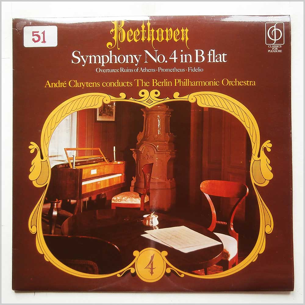 Andre Cluytens, Berlin Philharmonic Orchestra - Beethoven Symphony No. 4 in B Flat (CFP 40001)