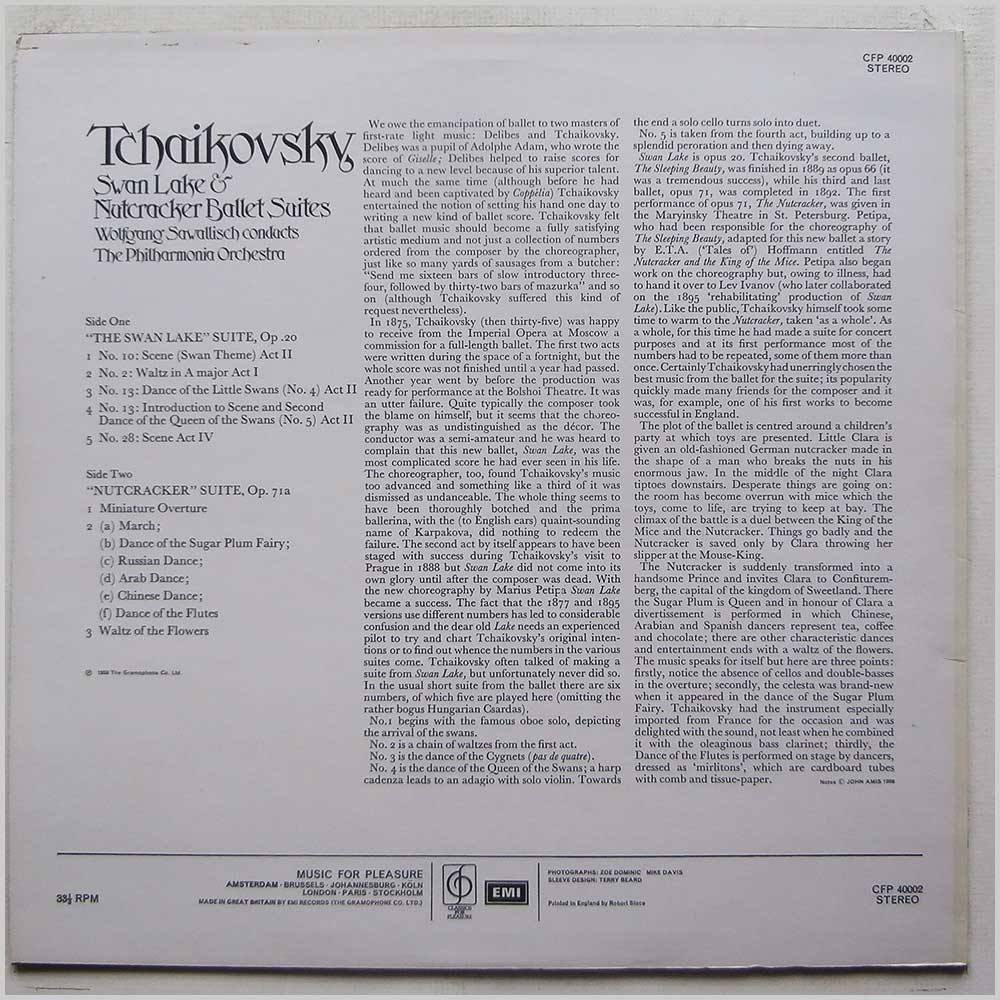 Wolfgang Sawallisch, The Philharmonia Orchestra - Tchaikovsky: Swan Lake and Nutcracker Ballet Suites (CFP 40002)