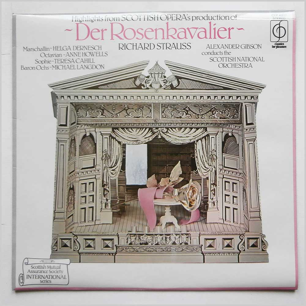 Alexander Gibson Conducts The Scottish National Orchestra - Richard Strauss: Der Rosenkavalier (CFP 40217)