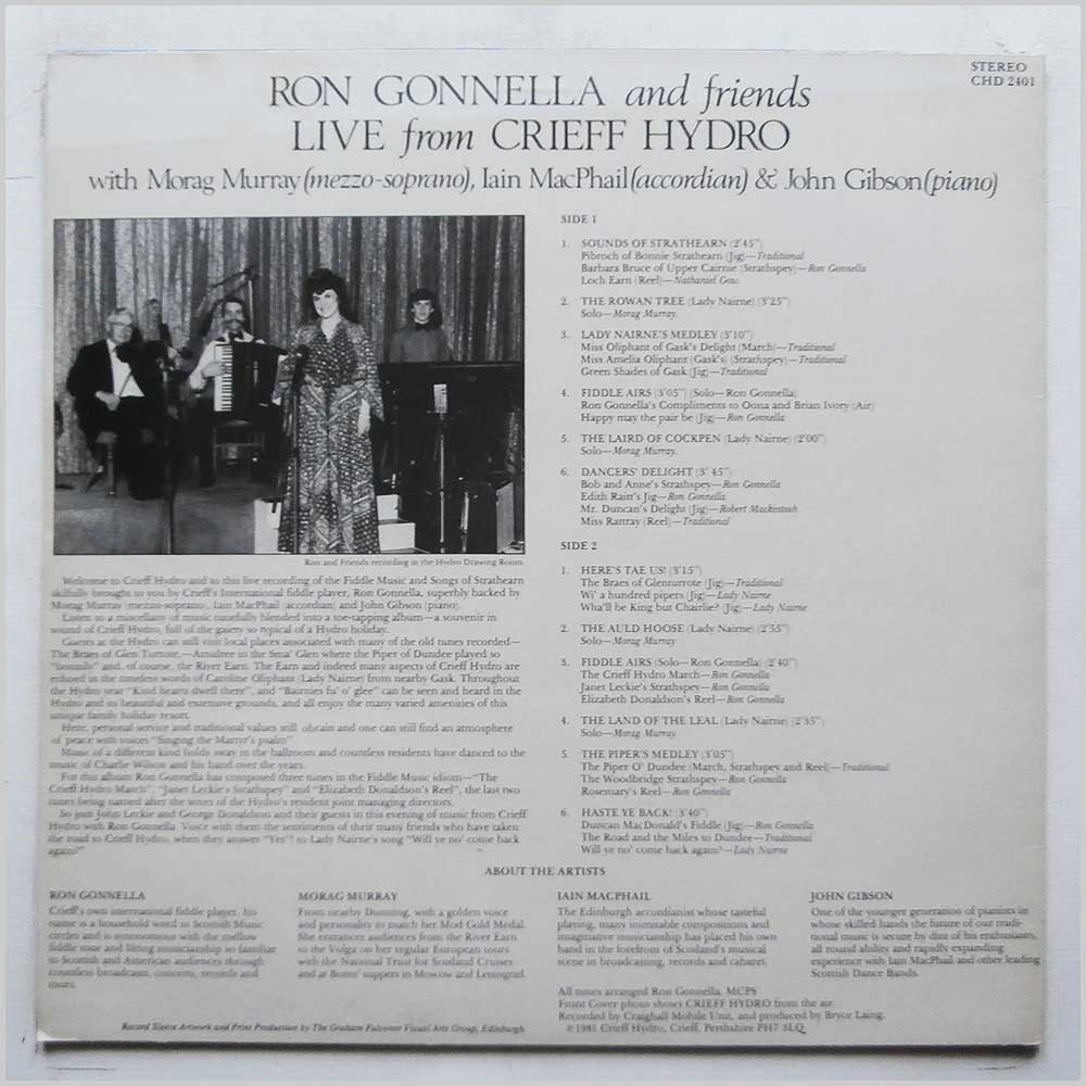 Ron Gonnella and Friends - Live From Crieff Hydro (CHD 2401)