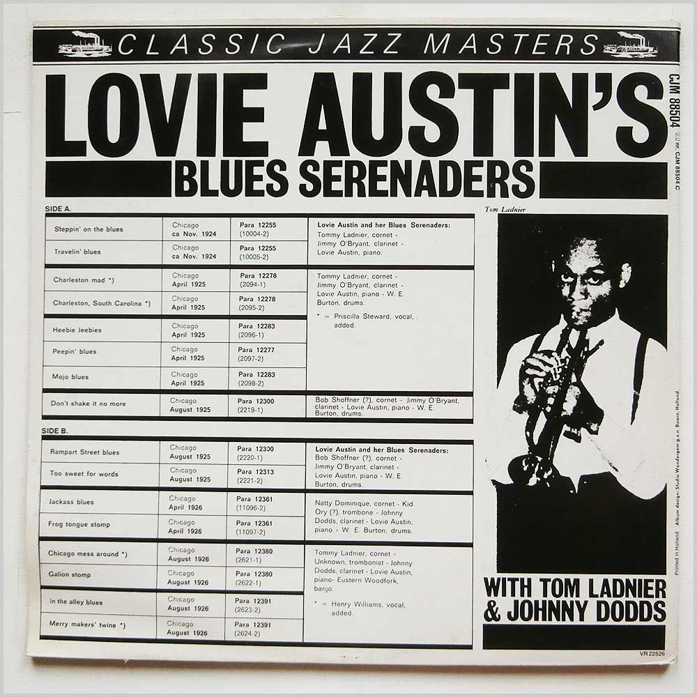 Lovie Austin with Tom Ladnier and Johnny Dodds - Lovie Austin's Blues Serenaders (CJM 88504)