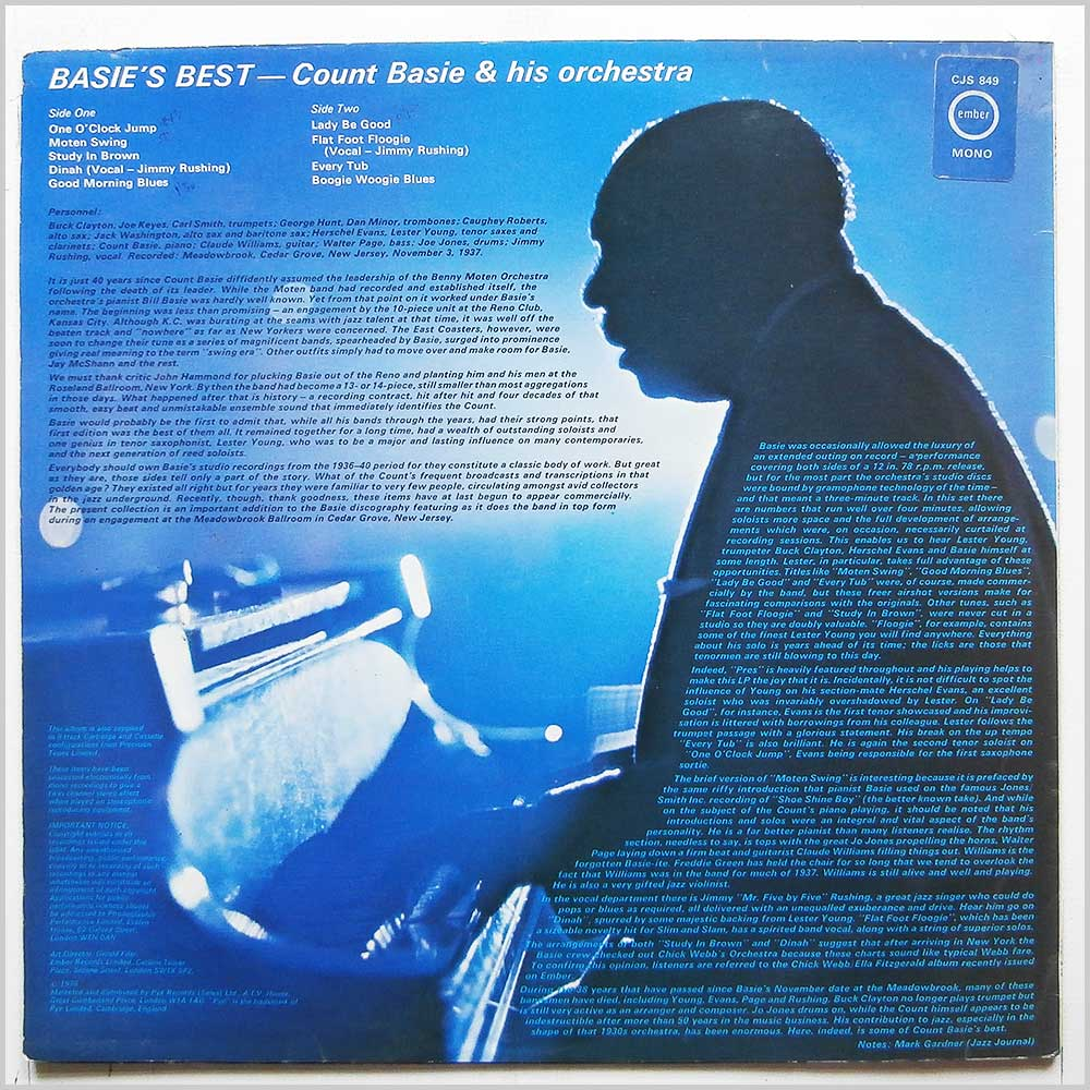 Count Basie - Count Basie and His Orchestra (CJS 849)