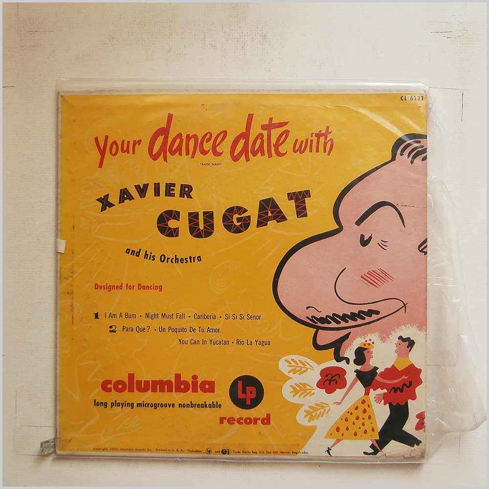 Xavier Cugat and His Orchestra - Your Dance Date With Xavier Cugat and His Orchestra (CL 6121)