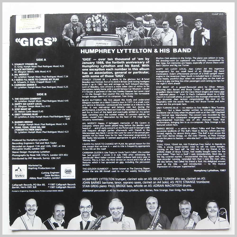 Humphrey Lyttelton and His Band - Gigs (CLGLP 015)