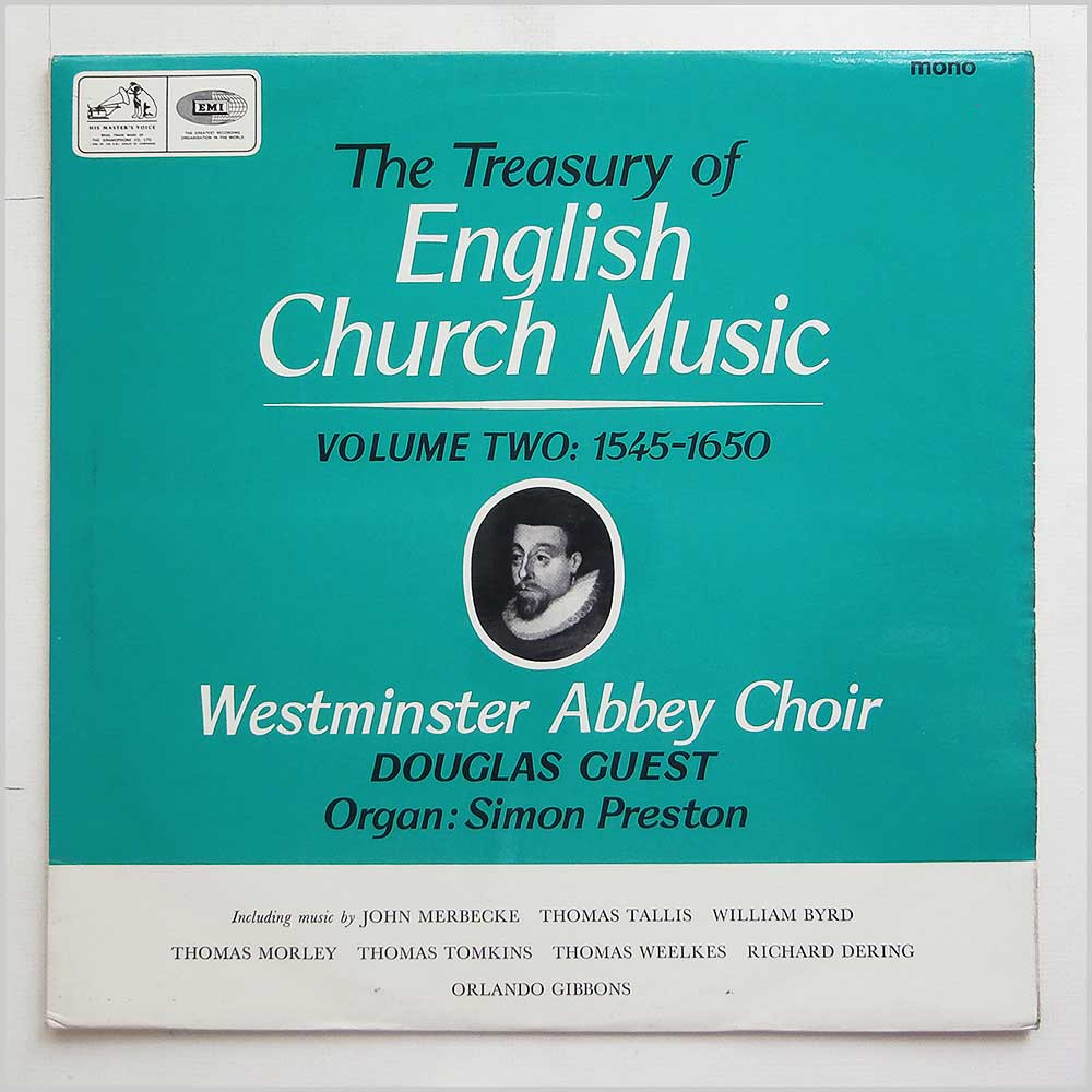 Westminster Abbey Choir - The Treasury Of English Church Music Volume Two: 1545-1650 (CLP 3536)