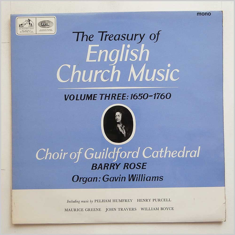 Guildford Cathedral Choir - The Treasury Of English Church Music Volume Three : 1650-1760 (CLP 3549)