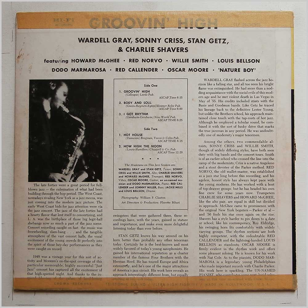 Stan Getz - Groovin' High (CLP 5002)