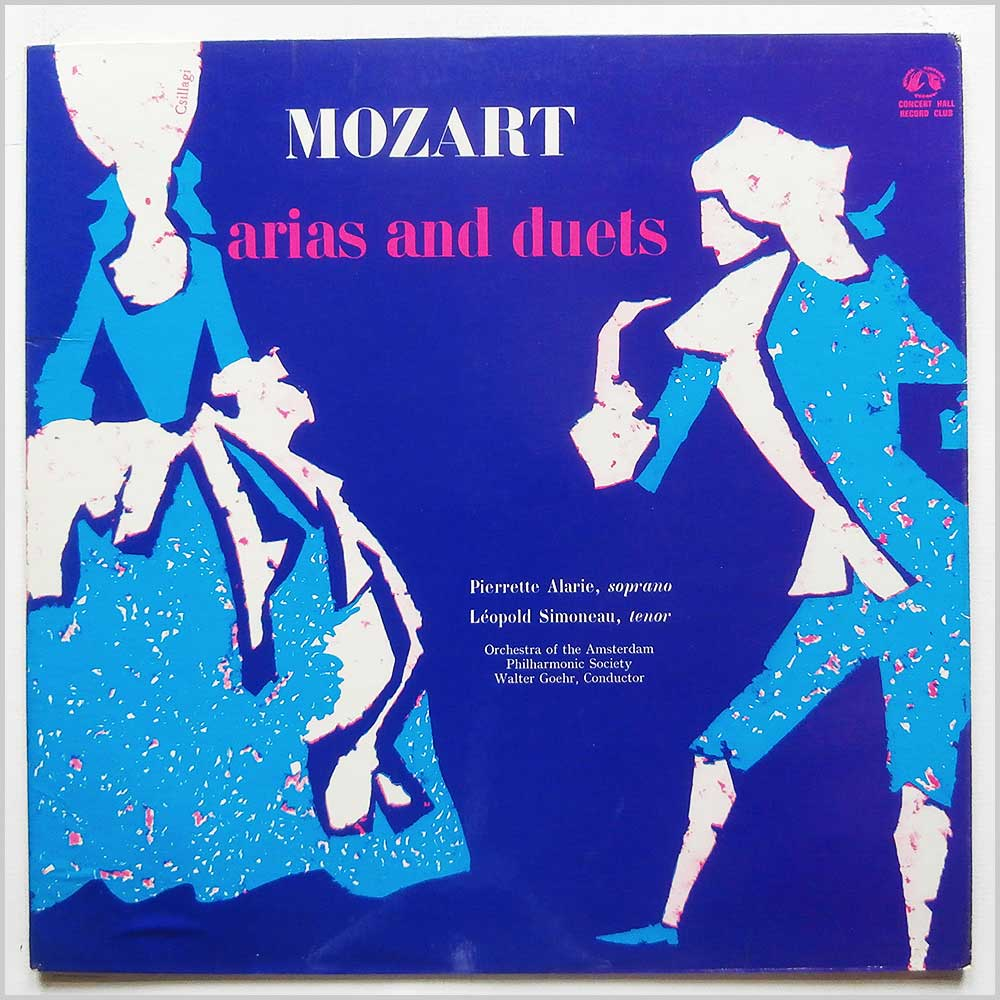 Pierrette Alarie, Leopold Simoneau, Orchestra Of The Amsterdam Philharmonic Society, Walter Goehr - Mozart: Arias And Duets (CM 2183)