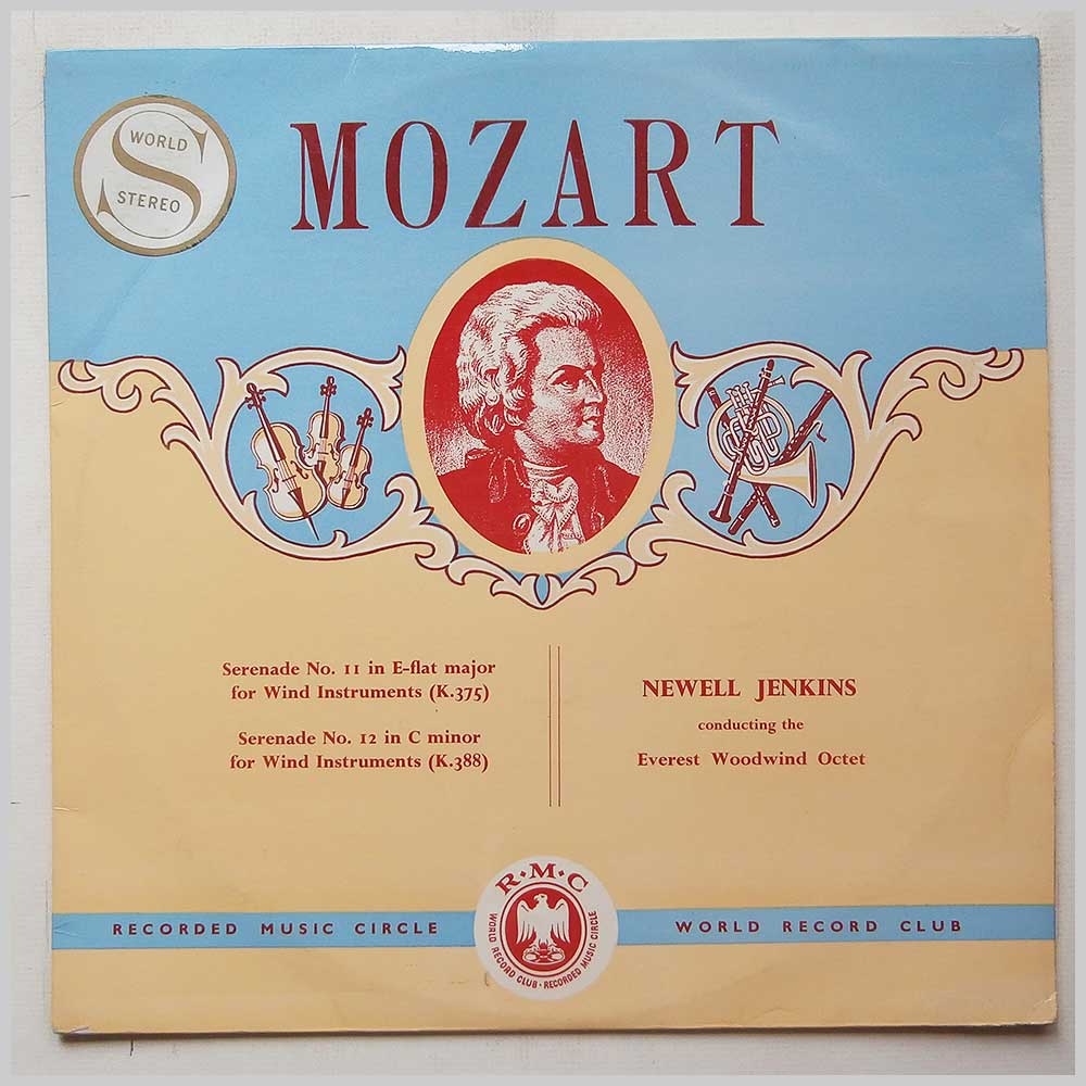 Newell Jenkins, The Everest Woodwind Octet - Mozart: Serenade No.11 in E-Flat Major for Wind Instruments, Serenade No.12 in C Minor for Wind Instruments  (CM 25)