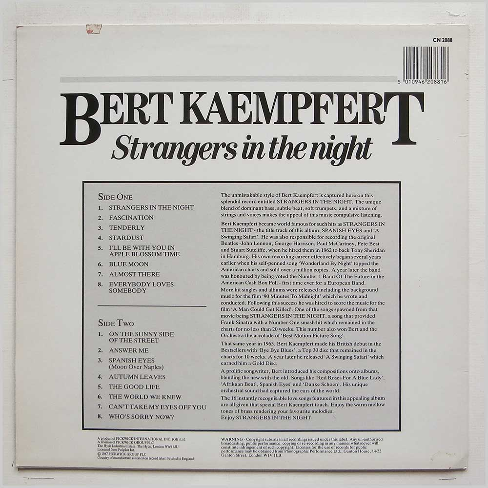 Bert Kaempfert and Orchestra - Strangers In The Night (CN 2008)