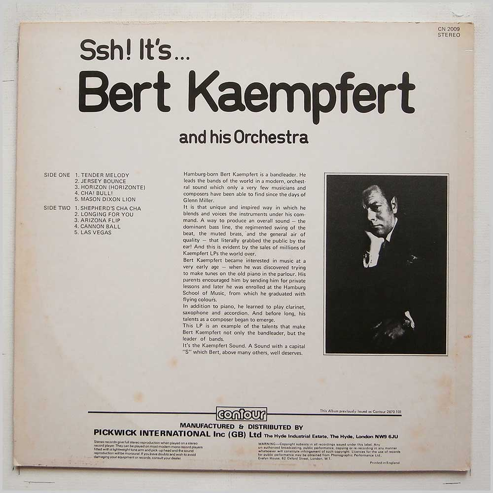 Bert Kaempfert and His Orchestra - Ssh It's Bert Kaempfert And His Orchestra (CN 2009)