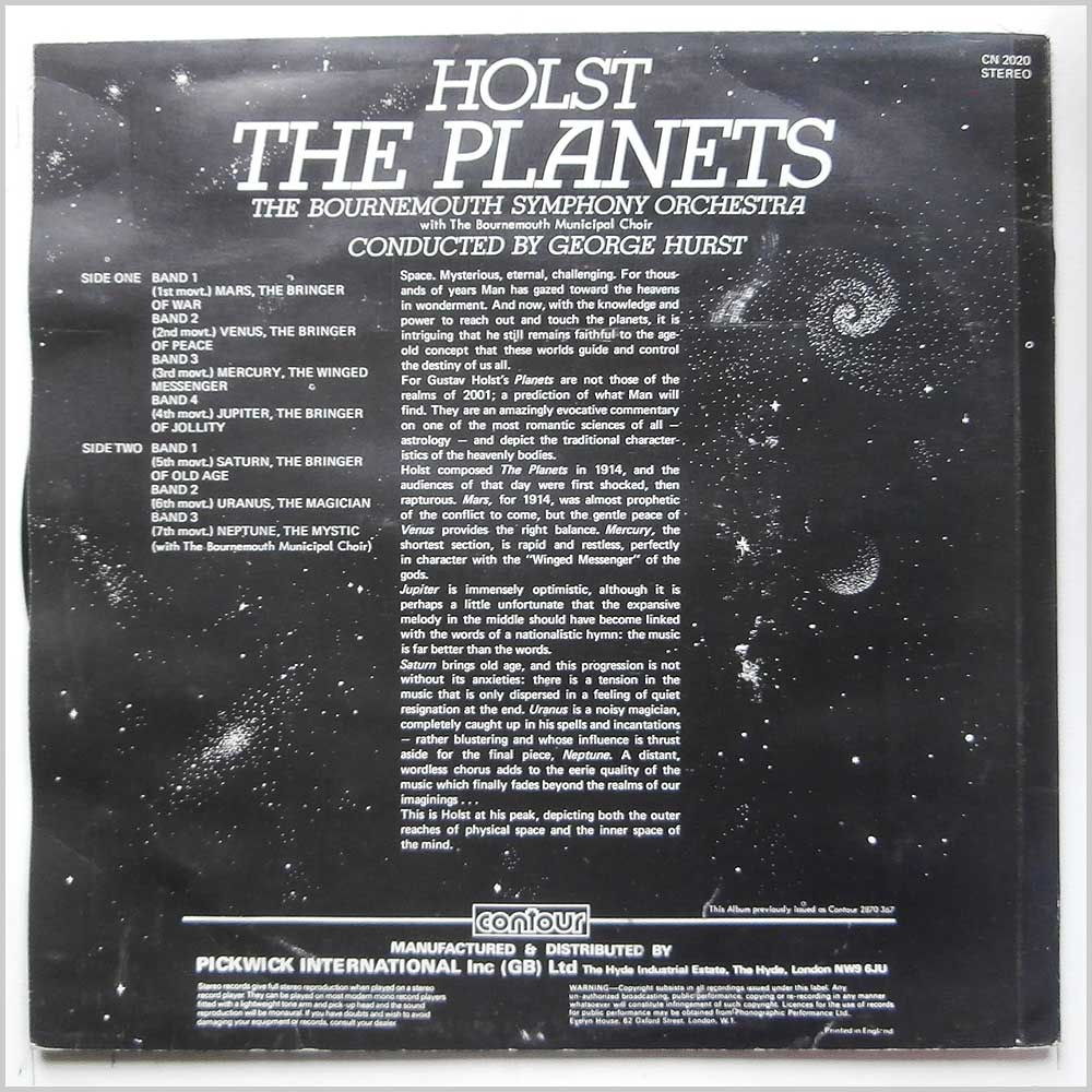 George Hurst, The Bournemouth Symphony Orchestra - Holst: The Planets (CN 2020)