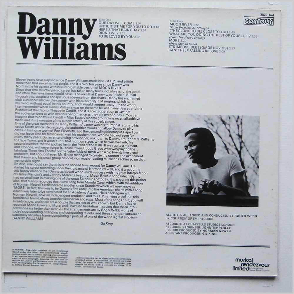 Danny Williams - Danny Willams (CONTOUR 2870 164)