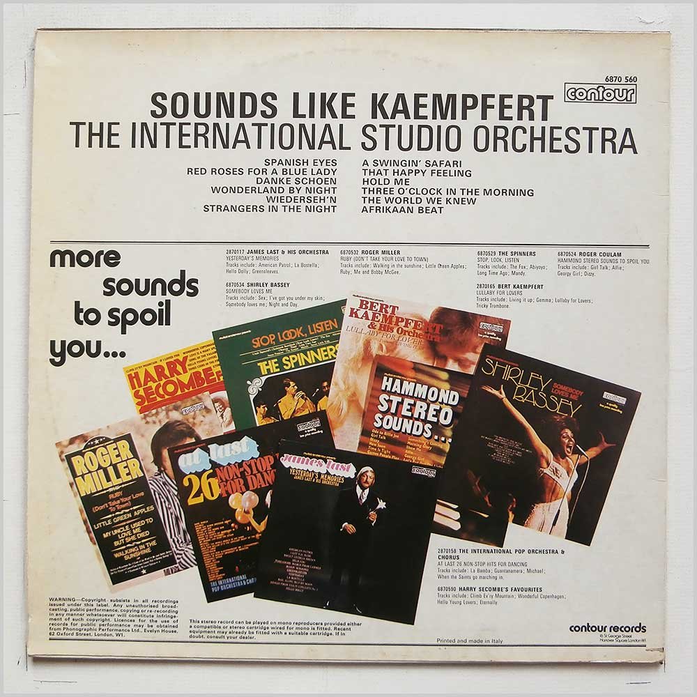 The International Studio Orchestra - Sounds Like Kaempfert (CONTOUR 6870 560)