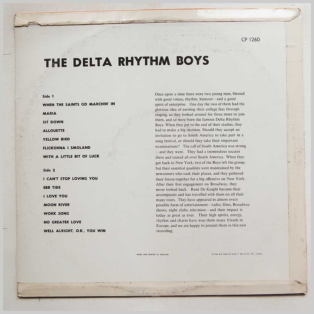 The Delta Rhythm Boys - The Delta Rhythm Boys (CP 1260)