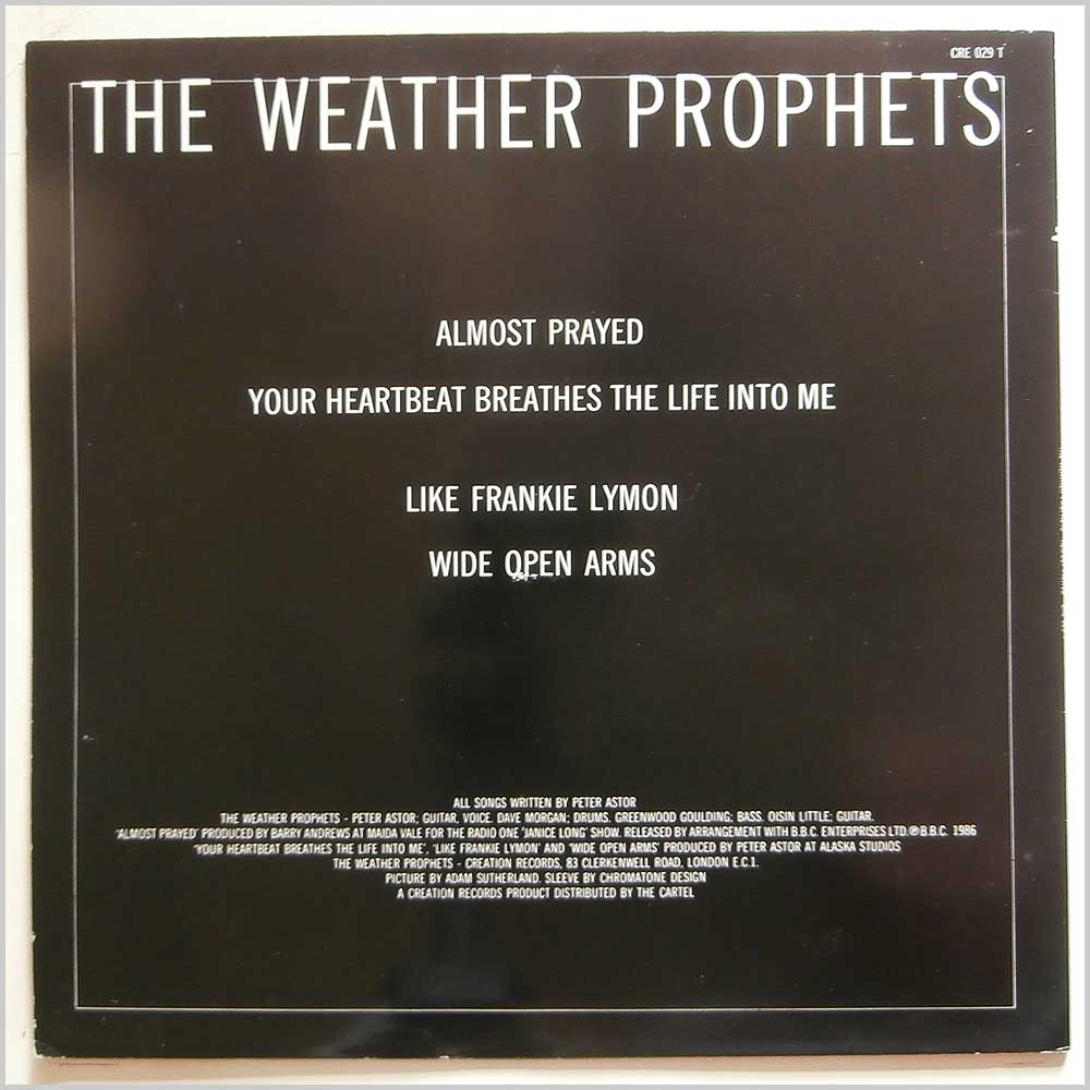 The Weather Prophets - Almost Prayed (CRE-029-T)