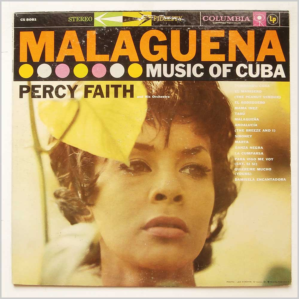 Percy Faith And His Orchestra - Malaguena Music Of Cuba (CS 8081)
