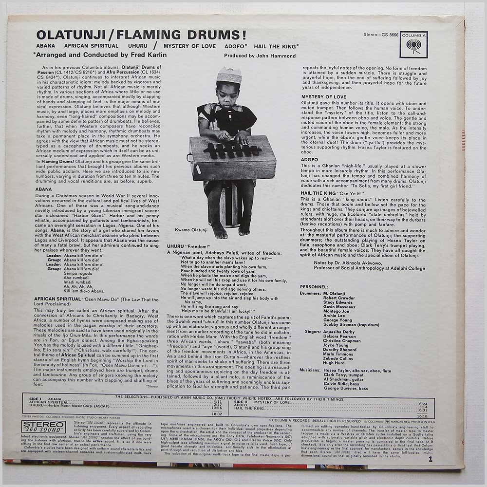 Olatunji - Flaming Drums (CS 8666)