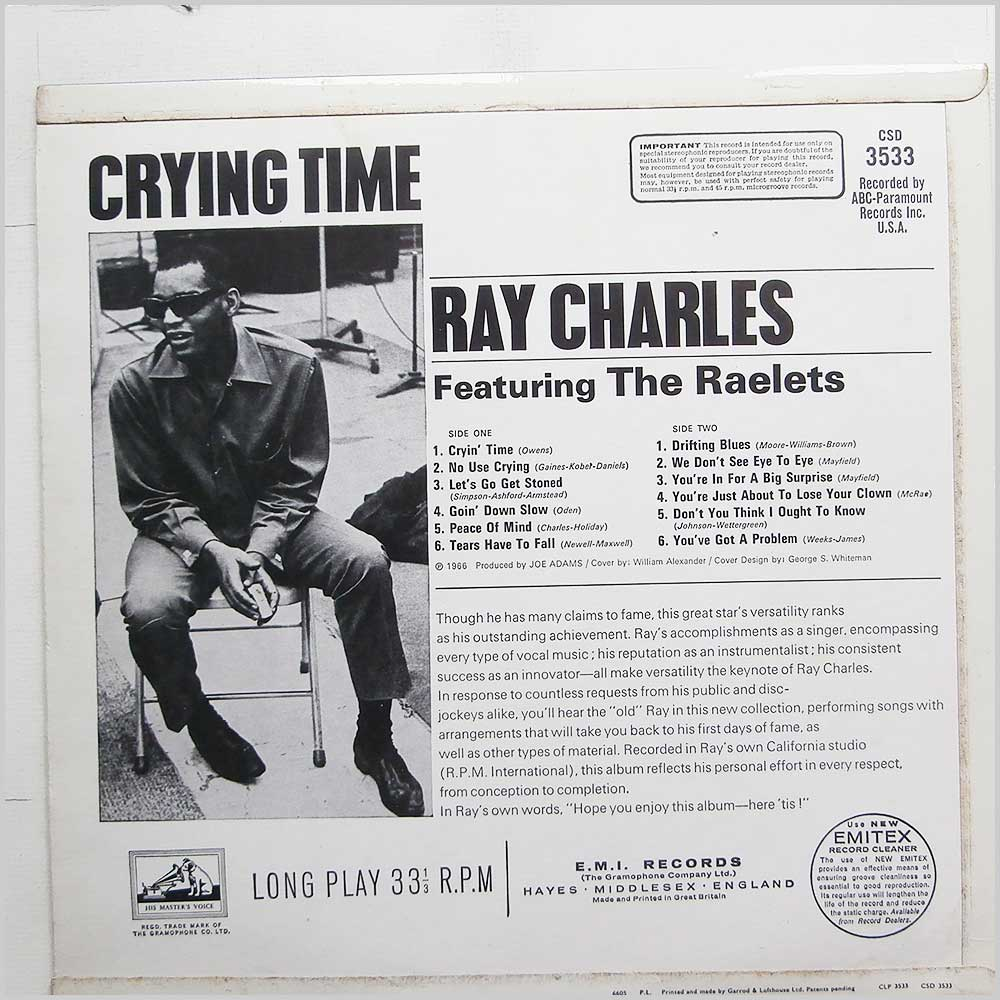 Ray Charles - Crying Time (CSD 3533)