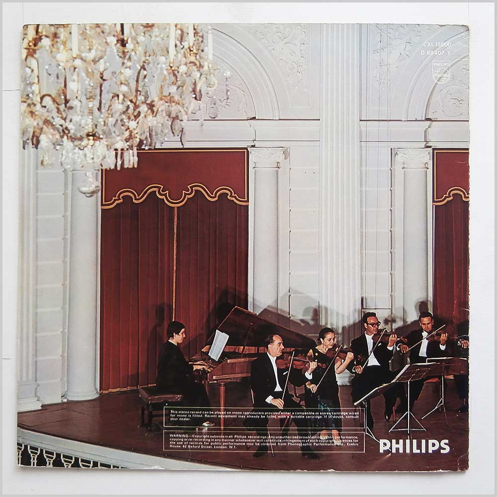 I Musici - I Musici Play Music Of The Italian Masters (CXL 15000)