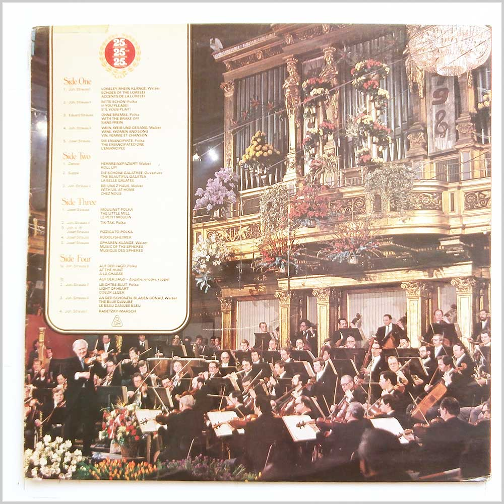 Willi Boskovsky, Vienna Philharmonic - New Years Day Concert in Vienna (D147D 2)