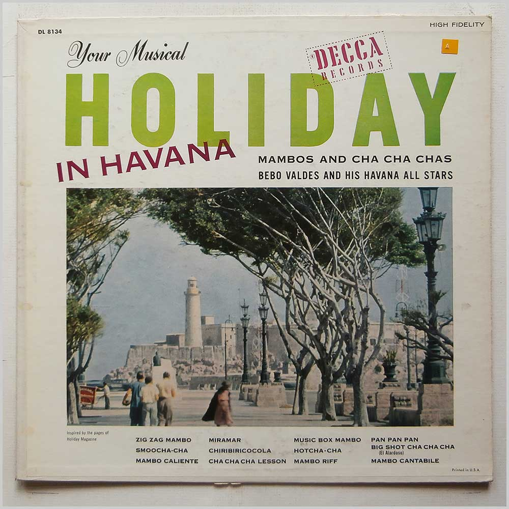 Bebo Valdes and His Havana All Stars - Your Musical Holiday in Havana (DL 8134)