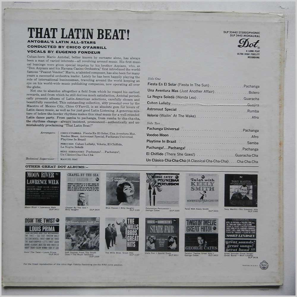 Antobal's Latin All Stars - That Latin Beat! (DLP 25445)