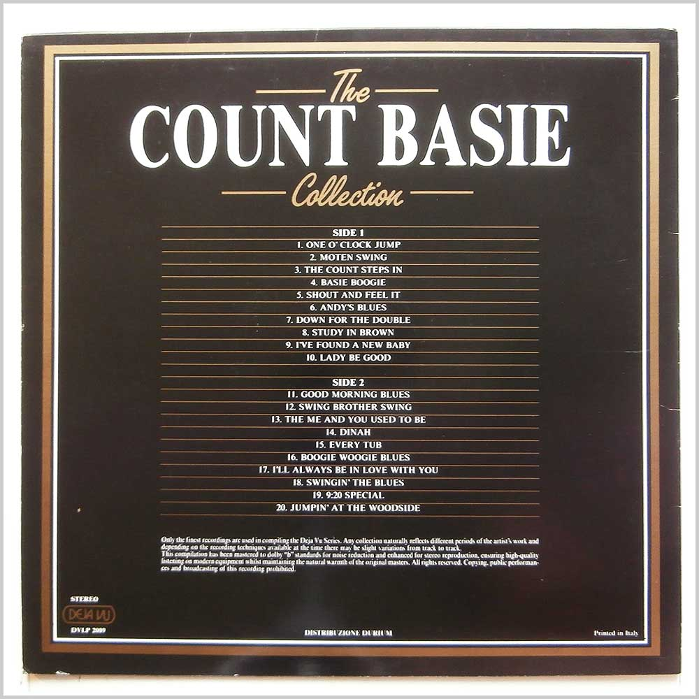 Count Basie - The Count Basie Collection: 20 Golden Greats (DVLP 2009)