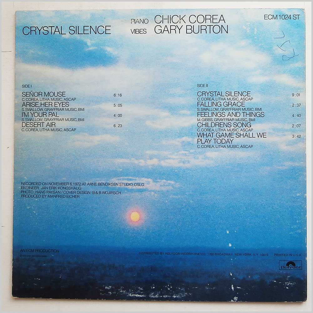 Gary Burton and Chick Corea - Crystal Silence (ECM 1024)