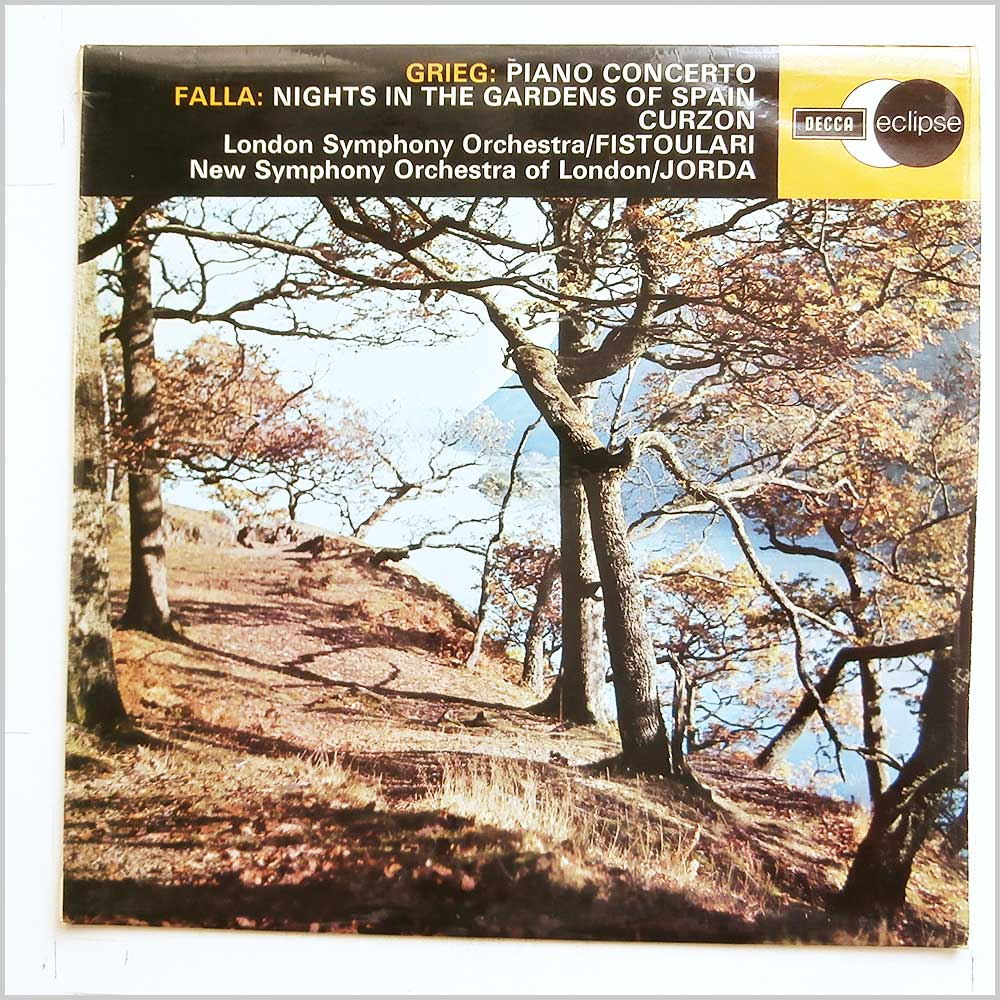 Enrique Jorda, New Symphony Orchestra Of London - Greig: Piano Concerto, Falla: Nights in The Garden Of Spain (ECS 514)