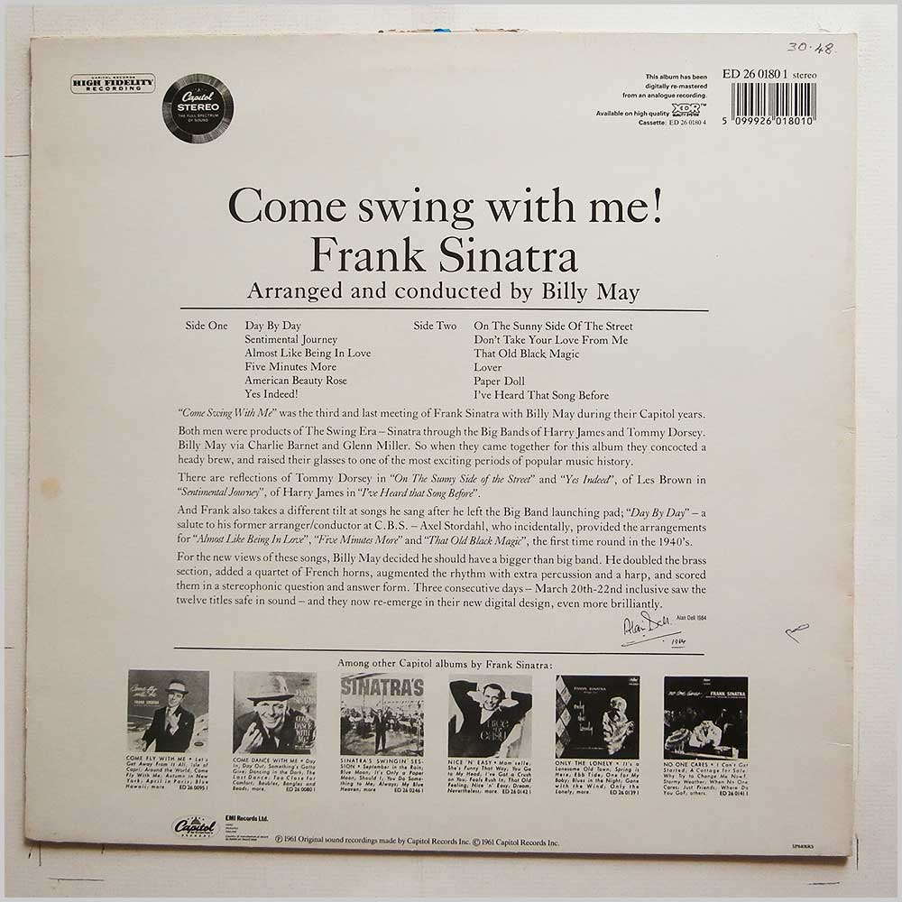 Frank Sinatra - Come Swing With Me! (ED 26 0180-1)