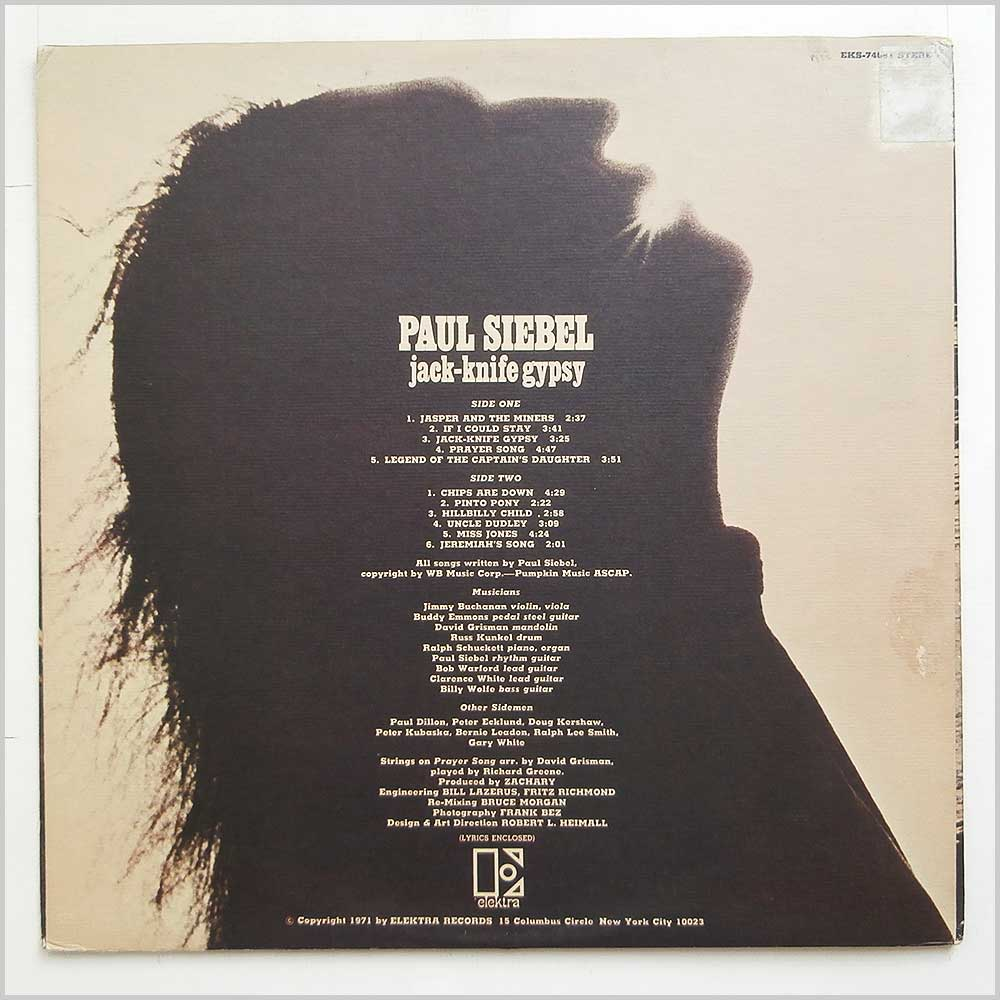 Paul Siebel - Jack-Knife Gypsy (EKS-74081)