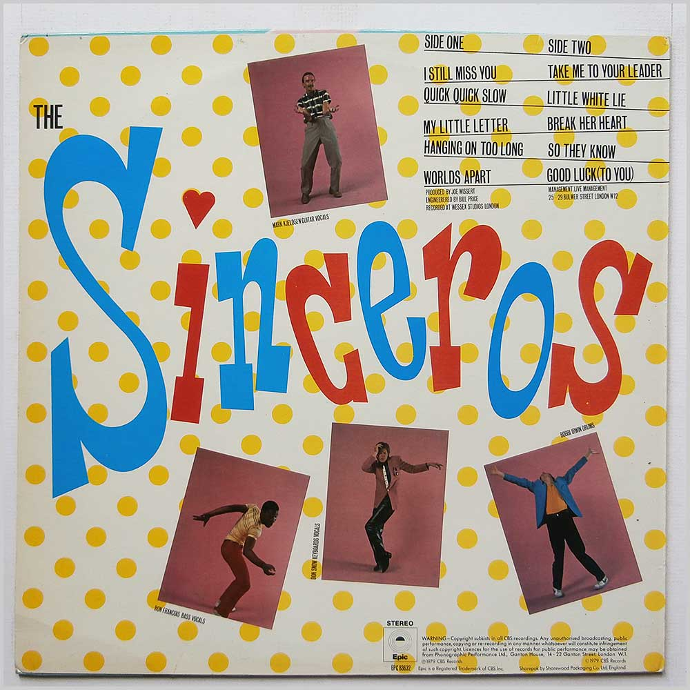 The Sinceros - The Sound Of Sun Bathing (EPC 83632)
