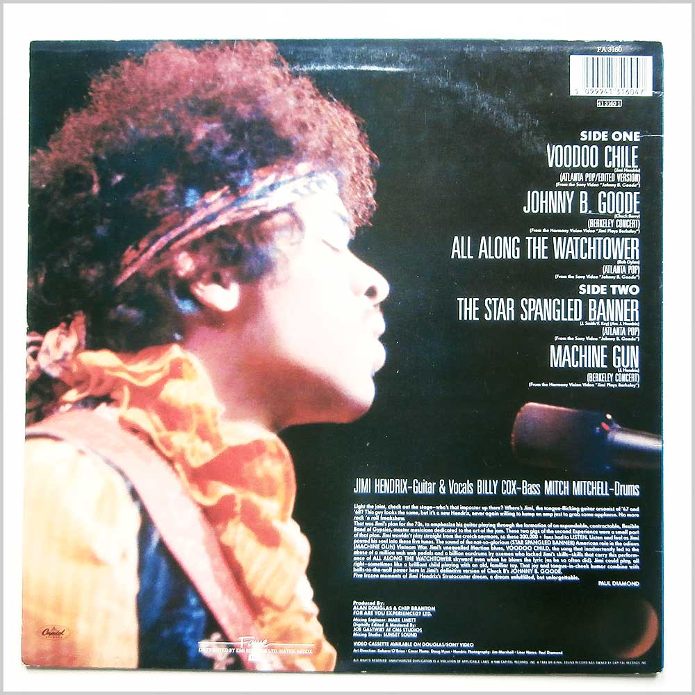 Jimi Hendrix - Johnny B. Goode Original Video Soundtrack (FA 3160)