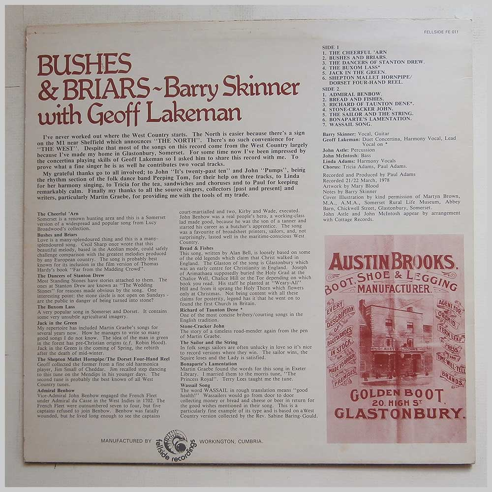 Barry Skinner with Geoff Larkin - Bushes And Briars (FE 011)