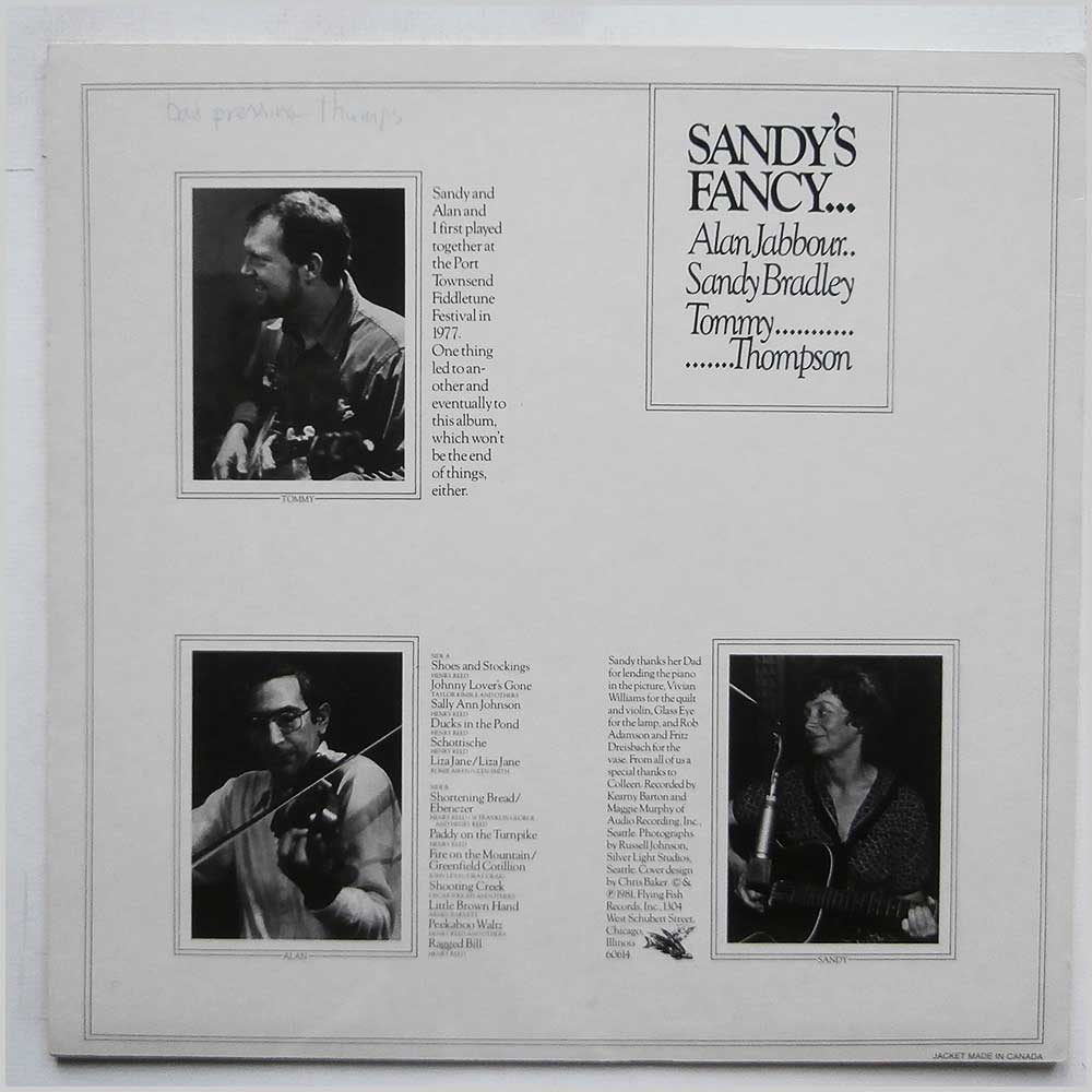 Sandy Bradley, Alan Jabbour, Tommy Thompson - Sandy's Fancy (FF 260 )