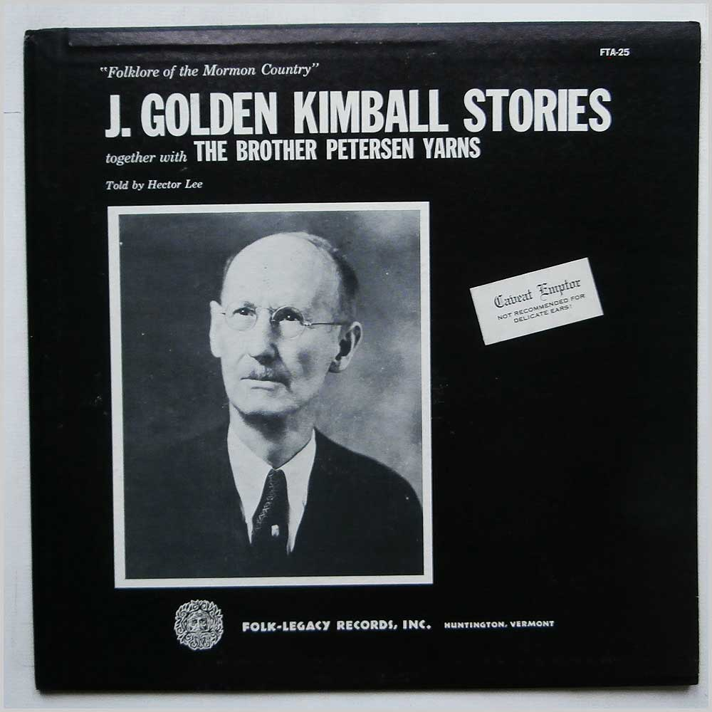 Hector Lee - Folklore Of The Mormon Country: The J. Golden Kimball Stories Together With The Brother Petersen Yarns (FTA-25 )