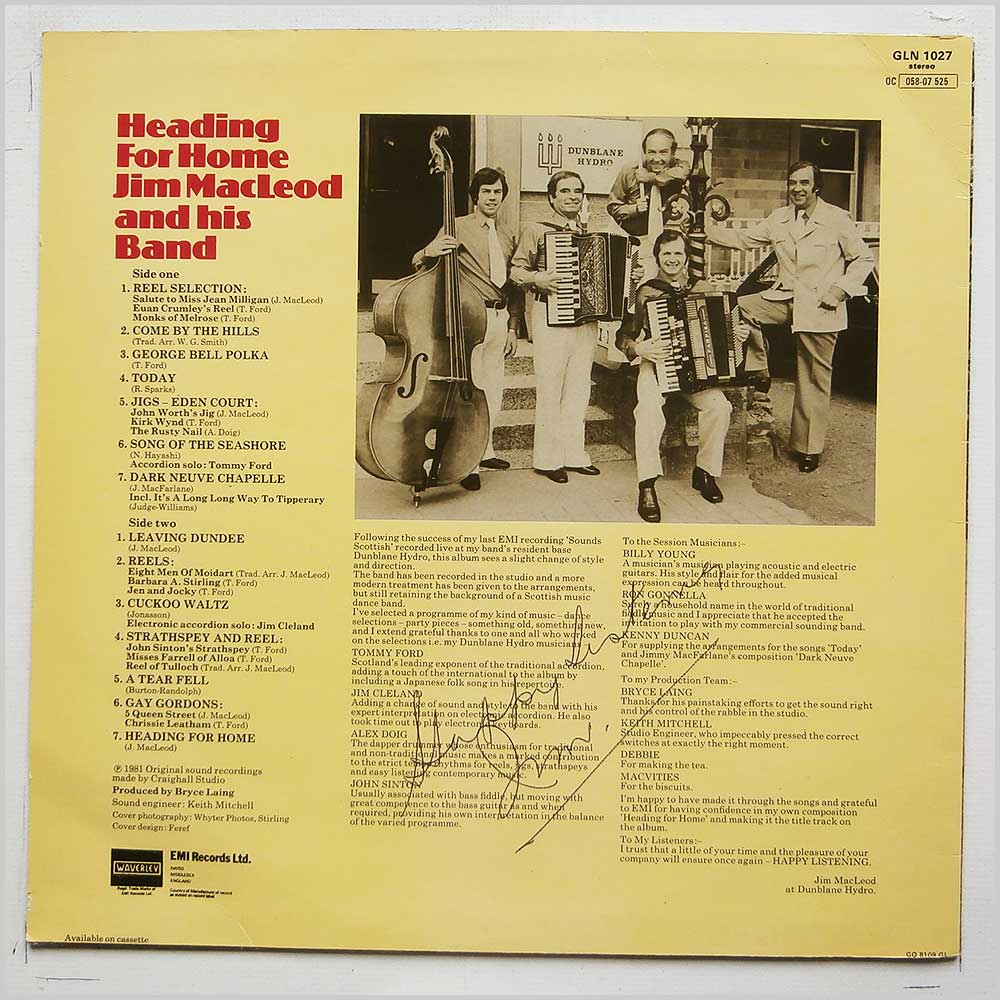 Jim MacLeod And His Band - Headin For Home (GLN 1027)