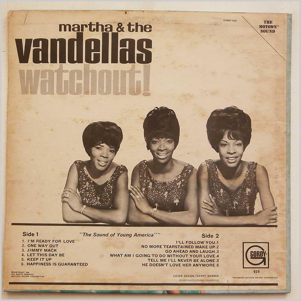 Martha and The Vandellas - Watchout (GLP 920)