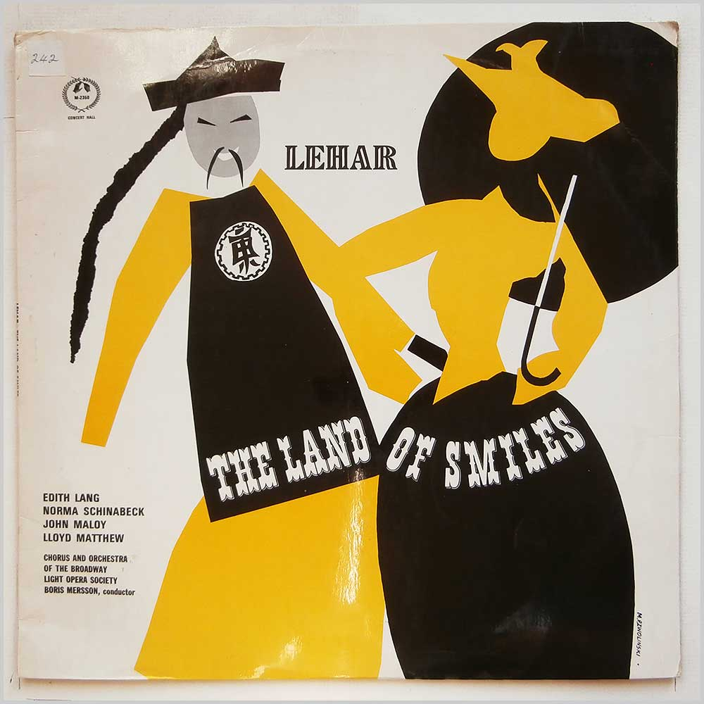 Boris Merrson, Chorus And Orchestra Of The Broadway Light Opera Society - The Land Of Smiles Highlights From Franz Lehar's Operetta (GM 2350)