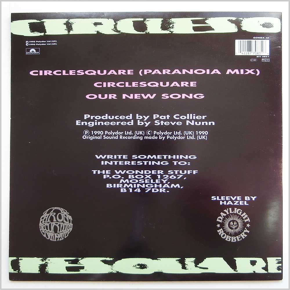 The Wonder Stuff - Circlesquare (Paranoia Mix) (GONEX 10)